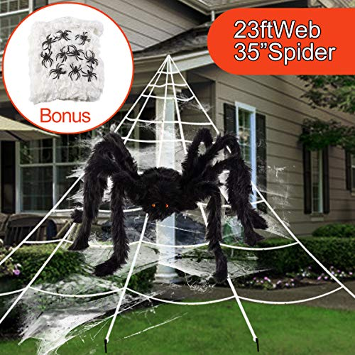 Black And White Spider - GIGALUMI Halloween Decoration Giant Spider Web