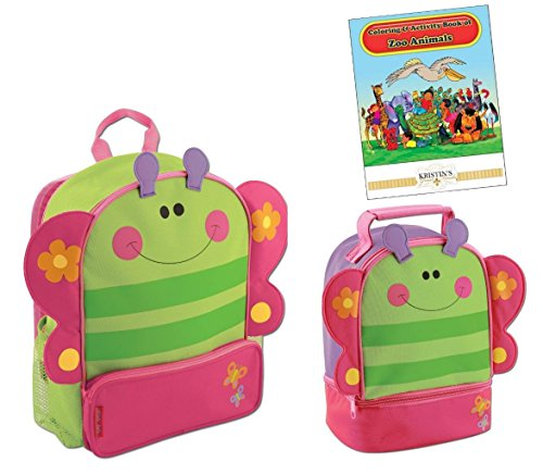 Sidekicks Backpack, Lunch Box, & Coloring Book, Butterfly
