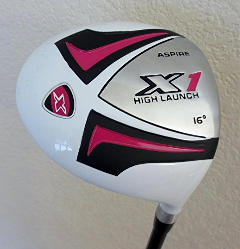 Ladies Complete Golf Club Set Driver, Fairway Wood, Hybrid, Irons, Putter & Womens Bag Pink