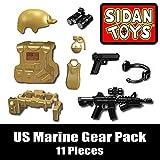 lego customs - US Marine Gear Pack (11 Pieces) - Custom LEGO Minifigure Pieces