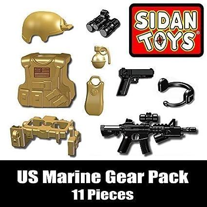 Amazon.com  US Marine Gear Pack (11 Pieces) - Custom LEGO Minifigure  Pieces  Toys   Games a9ca755186c8