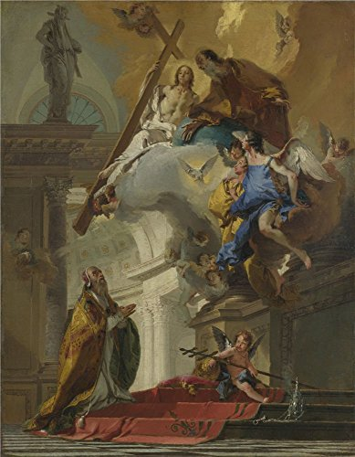 The Polyster Canvas Of Oil Painting 'Giovanni Battista Tiepolo A Vision Of The Trinity ' ,size: 20 X 26 Inch / 51 X 65 Cm ,this Beautiful Art Decorative Prints On Canvas Is Fit For Hallway Decoration And Home Decoration And Gifts (Iron Art Dummy Strap)