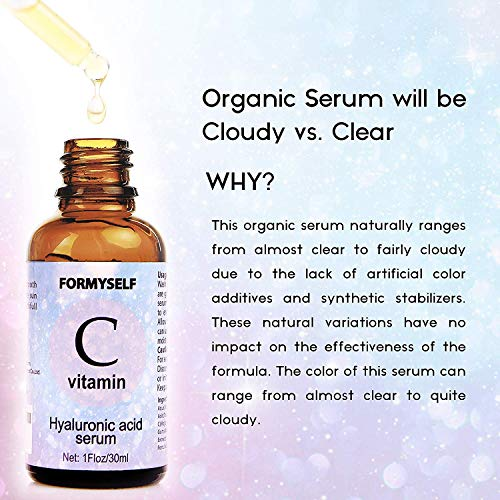 51qI497WDWL - Vitamin C Serum For Face 20% with Hyaluronic Acid 1 Fl.Oz Vitamin E Natural Anti Aging & Wrinkle Retinol Facial Serum Sun Damage Corrector Remover for Face Dark Circles Under Eye Fine Lines Treatment