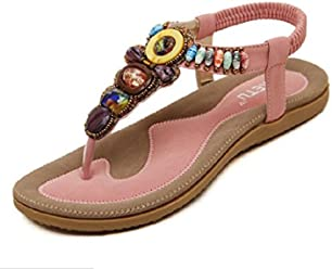 f25d5cf0e2d0 SIKETU Women Sandals Bohemia Beaded Flats Sandals Summer Shoes