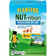 Planters Nutrition Wholesome Nut Mix Pack, 7.5 oz