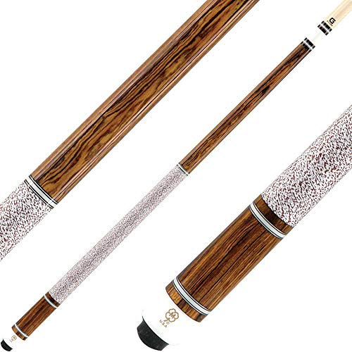 McDermott Cues - G Series - Bocote with 5 Ivory and Silver Rings - Includes Case - 19oz
