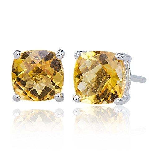 Stunning Natural Citrine Gemstone 925 Sterling Silver 925 Post Stud Jewelry Earrings