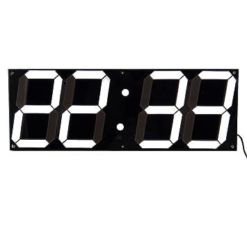 2016 Inicio de la decoración 3D del reloj digital LED de gran tamaño Escritorio moderno reloj de pared Blanco y Negro: Amazon.es: Hogar