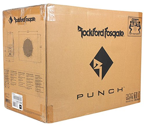Rockford Fosgate P300-10 10'' 300W Sealed Powered Subwoofer/Sub Enclosure+Amp Kit by Rockford Fosgate (Image #4)