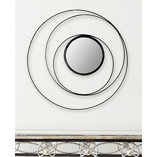 Safavieh Home Collection Inner Circle Mirror, Black