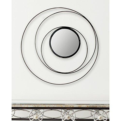 Safavieh Home Collection Inner Circle Mirror, Black Metallic Decor