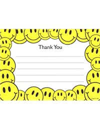 Kids Smiley Face Thank You Cards, Fill-In Style, 8 Pack BOBEBE Online Baby Store From New York to Miami and Los Angeles