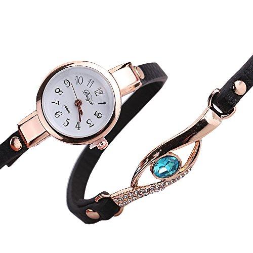 Diamond Wrap Around Casual Quartz-watch women Leather Buckle - Women Prada Watch