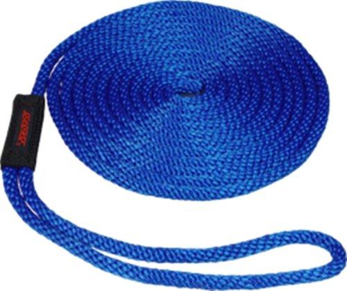 (SeaSense Solid Braid Dock Line with Chafe Guard, Multi-Filament Nylon Pre-Spliced, 3/8-Inch X 15-Foot, Blue)