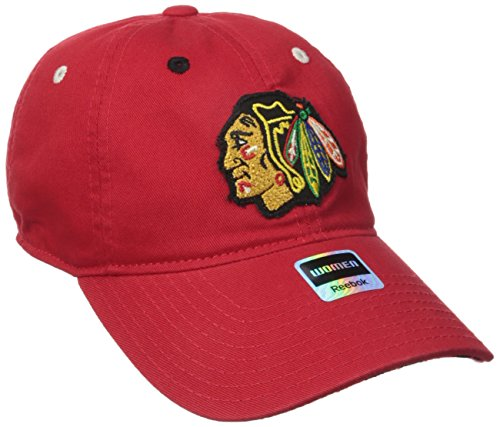 NHL Chicago Blackhawks Women's Face-Off Adjustable Slouch Cap, One Size, Red ()