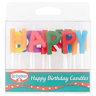 Dr Oetker Happy Birthday Candles Amazoncouk Grocery