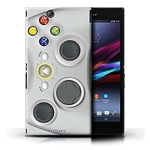 Kobalt® protector duro de nuevo caso / cubierta para el Sony Xperia Z Ultra | Xbox 360 blanco Diseño | Juegos colección consola colección