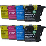 8 CiberDirect High Capacity Compatible Ink Cartridges for use with Brother DCP-J315W Printers.