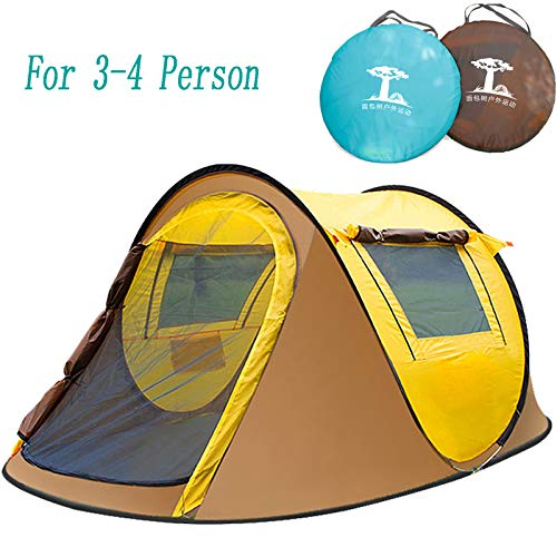 Campingtens Outdoor Camping Tent for 3-4 Persons,4 Door Family Camping Tent with Instant Setup.