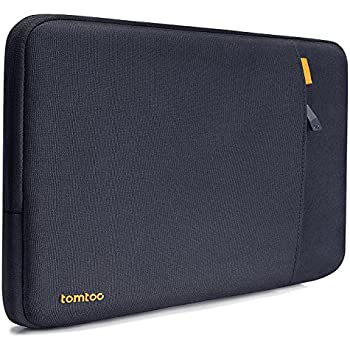 Tomtoc 360° Protective Laptop Sleeve for 13 Inch 2017 MacBook Pro Touch Bar | Dell XPS 13 2017 & 2018, Shockproof Spill-Resistant 13 Inch Laptop Tablet Bag Case, Black Blue