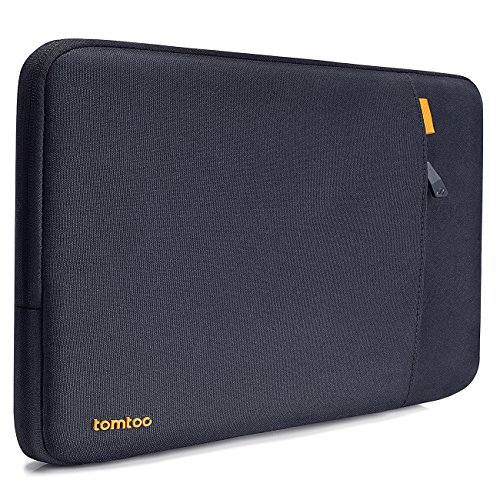 Tomtoc 360° Protective Laptop Sleeve for 15 Inch MacBook Pro Retina 2012-2015, Shockproof Spill-Resistant 15 Inch Netbook Tablet Case Cover, Support up to 14.13 x 9.73, Blue Black