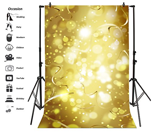 Leyiyi 8x10ft Photography Backdrop Happy New Year Background Luxry Spots Graduation Celebrtion Summer Party Music Show Banquet Birthday Party Baby Shower Ribbon Photo Portrait Vinyl Studio Video Prop