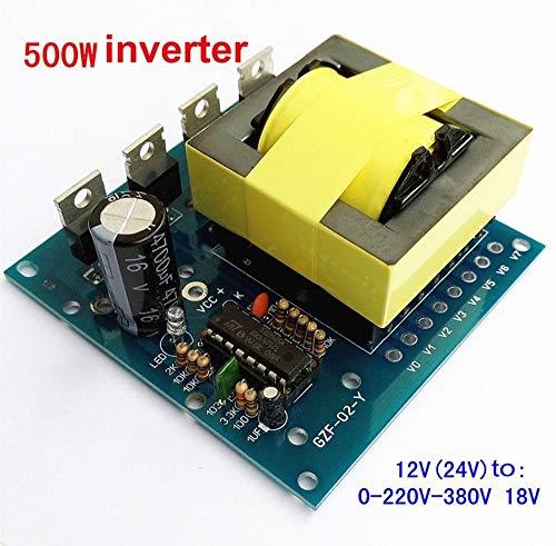 FidgetFidget Inverter Board Transformer Power 500W DC-AC Converter Step-up 12V to 220V 380V