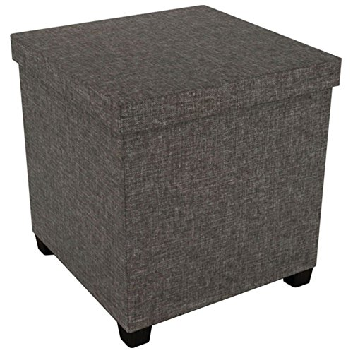 Atlantic 67336104 Ottoman With Wooden Feet  17  X 17   Brown