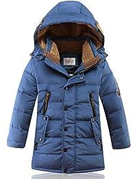 Boys Kids Winter Hooded Down Coat Puffer Jacket For Big Boys Mid-Long