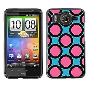Cubierta de la caja de protección la piel dura para el HTC DESIRE HD / G10 - pink pattern rings girly