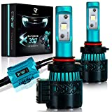 Image of LED Headlight Bulbs Conversion Kit - 9005(HB3) CREE XHP50 Chip 8000 Lumen 6K Extremely Bright 68w Cool White 6500K For Bright & Greater Visibility 2 Year Warranty by Glowteck