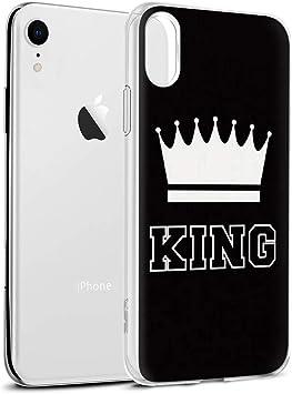 Yoedge Funda iPhone XR, Silicona Ultra Slim Cárcasa con King Queen ...