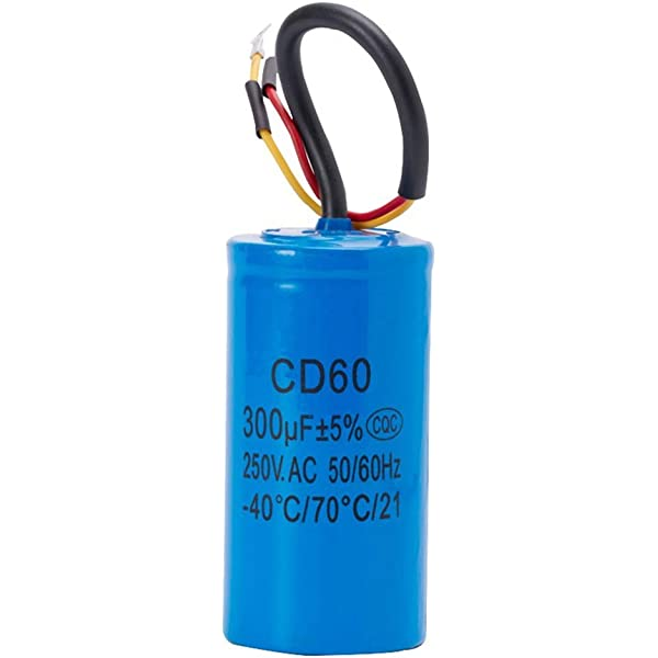 Condensateur de Fonctionnement Cd60 avec fil 250V AC 200uF 50//60Hz pour Compresseur dAir de Moteur