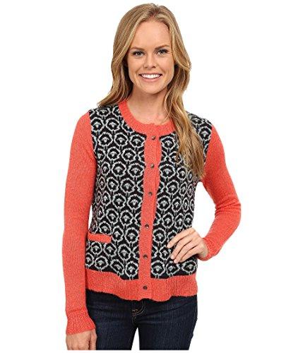 (Woolrich Women's Motif Mohair Cardigan Navy Sweater SM)
