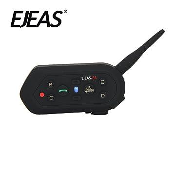 EJEAS® E6 Casco de Motocicleta Con Auriculares de Intercomunicador Inalámbrico para Seis Personas 1200m VOX