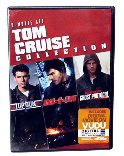 Tom Cruise in Top Gun / Mission Impossible III (M:i:iii) / Mission Impossible Ghost Protocol (Mission Impossible 4)