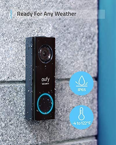 Eufy Security Wi-Fi Video Doorbell, 2K Resolution, Real-Time Response, No  Monthly Fees, Secure Local Storage, Ready for Any Weather, Free Wireless