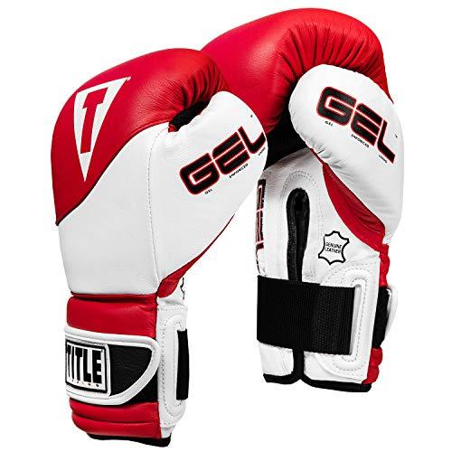 Title Boxing GEL Suspense Training Gloves, Red/White, 14 ()