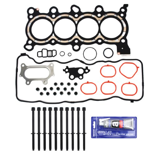 Civic Sohc Engine - New EH6560HBSI MLS Head Gasket Set, Cylinder Head Bolt Kit, & RTV Gasket Silicone for Honda Civic 1.8L DX LX EX GX i-VTEC SOHC R18A1 R18A4 Engine 2006-10