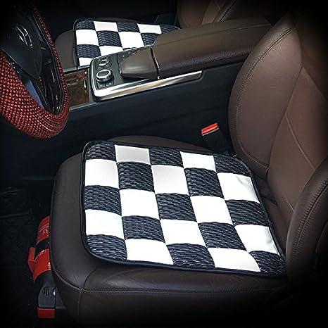 Pinke 2Pcs Ice Silk Car Seat Cushions Mat Pad Covers For Mini Cooper JCW One S