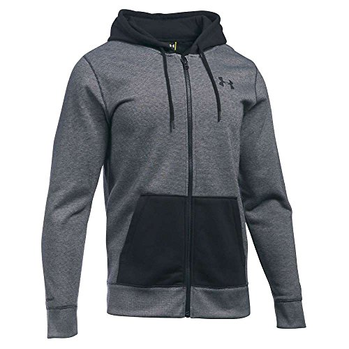Under Armour Storm Rival Cotton Novelty Full Zip Hoodie - Men's Black / Black / Black Large