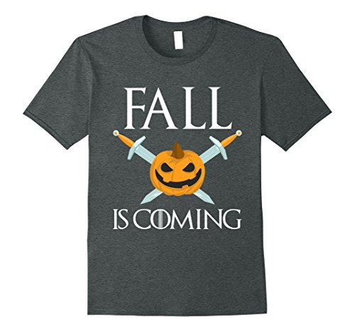 Mens Fall Is Coming Halloween Funny Parody T-shirt XL Dark Heather