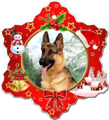 - German Shepherd Porcelain Holiday Ornament