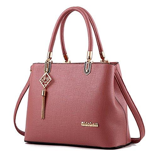Nicole&Doris New Women/Ladies Fashion Handbag Crossbody Shoulder Purse Tote Bag for Work Hot Sale Pink