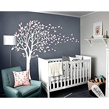 LUCKKYY Tree Blowing In The Wind Wall Decals Sticker Vinyl Art Kids Rooms Teen