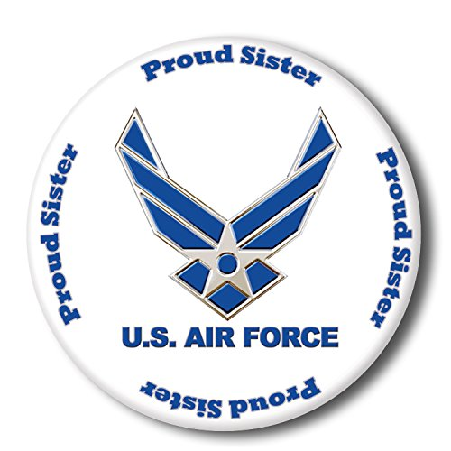 Partypro AIR FORCE PROUD SISTER BUTTON (EACH) - Sister Button