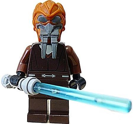 Lego Star Wars Plo Koon Minifig ures  blue lightsaber by LEGO