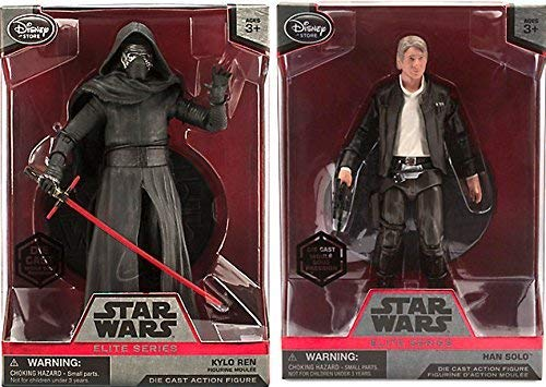 AYB Products Kylo Ren & Han Solo Elite Series Die Cast Action Figure - 6 1/2'' - Star Wars: The Force Awakens