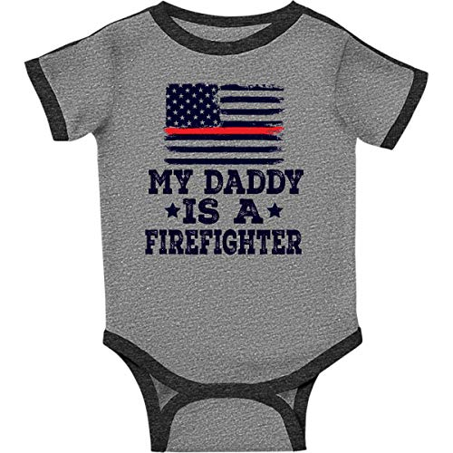 inktastic - Fireman Infant Creeper 18 Months Ringer Heather and Smoke 2ec6d