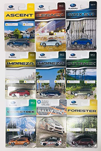 SUBARU Official Genuine 1/64 Die Cast Toy 9 Car Set WRX STi Outback Forester Crosstrek Rally Car